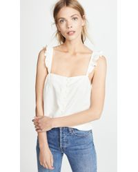 Madewell - Ruffle Strap Cami Top - Lyst