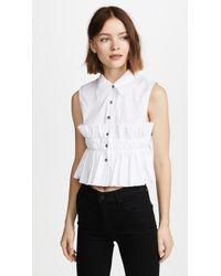 Jourden | Smocked Crop Shirt | Lyst