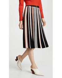 c765f55bbbb08 Tory Burch Erica Pleated Skirt in Black - Lyst