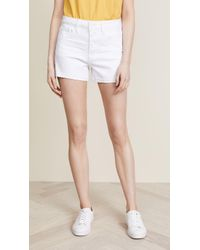 PAIGE - High Rise Sarah Shorts With Exposed Buttons - Lyst