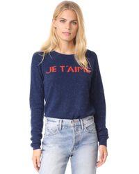 Birds Of Paradis - Navy Je T'aime Sweater - Lyst