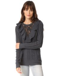 Nightcap - Lace Inset Sweater - Lyst