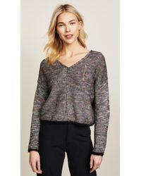 Raquel Allegra - Square V Neck Sweater - Lyst
