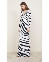 Roberto Cavalli - Zebra V Neck Dress - Lyst
