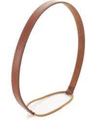 Jennifer Behr - Thin Leather Headband - Lyst