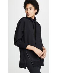 L'Agence - Aspen Side Zip Sweatshirt - Lyst