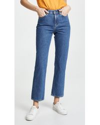 Simon Miller - High Rise Straight Crop Jeans - Lyst