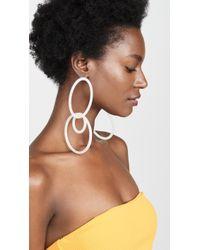 Cult Gaia Tria Earrings - White