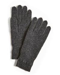 White + Warren - Cashmere Cross Stitch Gloves - Lyst