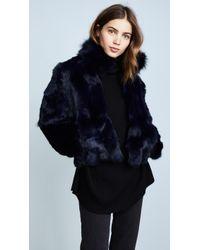 Adrienne Landau | Fur Jacket With Fox Collar | Lyst