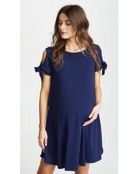Susana Monaco - Tie Sleeve Flare Dress - Lyst