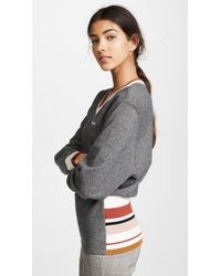 Maison Kitsuné - Striped Ribbed Sweatshirt - Lyst