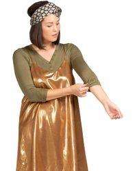 BURU White Label - Liquid Gold Slip Dress - Lyst