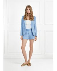 Rachel Zoe - Maya Light Denim Shorts - Lyst