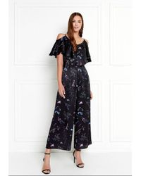 Rachel Zoe - Houghton Wide-leg Floral Printed Silk-satin Jumpsuit - Lyst