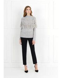 Rachel Zoe - Shirley Fringe-detail Knit Sweater - Lyst