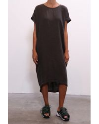 Black Crane - Pleated Cocoon Dress In Charcoal - Lyst