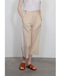 Giada Forte - Striped Voile Pants With Lurex Details - Lyst