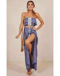 Showpo - Be Someone Two Piece Set In Blue - Lyst