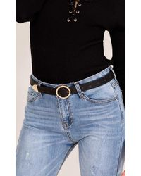 Showpo - Viral Belt In Black And Gold - Lyst
