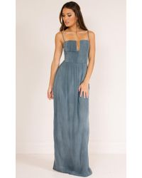 Showpo - Putting It On Maxi Dress In Blue - Lyst