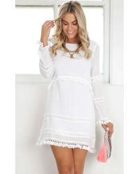 Showpo - Sensitive Dress In White - Lyst