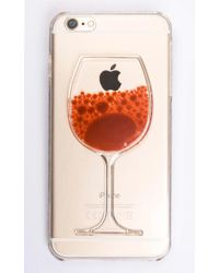Showpo - Hand Me The Bottle Iphone Cover In Red And Clear - 6 - Lyst