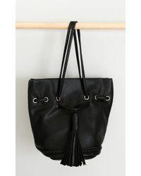 Showpo - Pied Piper Bag In Black Leatherette - Lyst