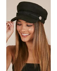 Showpo - Boss Woman Conductor Hat In Black - Lyst