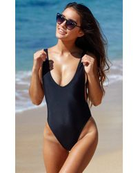 Showpo - Pamela One Piece In Black - Lyst