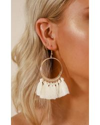 Showpo - One Way Or Another Earrings In Gold - Lyst