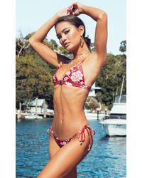 Showpo - Sedona Bikini Top In Red Floral - Lyst