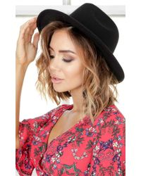 Showpo - Have You Heard Hat In Black - Lyst