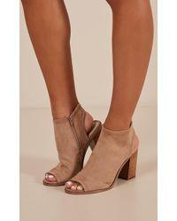Showpo - Therapy Shoes - Volente In Camel - Lyst