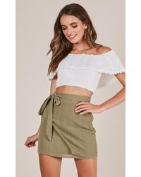 Showpo | Casual Fridays Skirt In Khaki | Lyst
