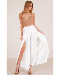 Showpo - Black Out Pants In White - Lyst