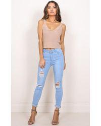Showpo - Melinda Jeans In Light Wash - Lyst