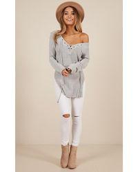 Showpo - Sewn In Sweater In Grey - Lyst