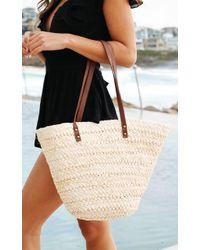 Showpo - Set Sail Bag In Natural - Lyst