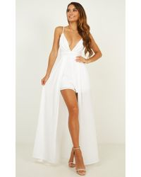 Showpo - Return To Reality Maxi Playsuit - Lyst