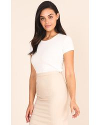 Showpo - Strategy Top In White - Lyst