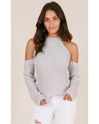 Showpo - Never Released Knit In Grey - Lyst