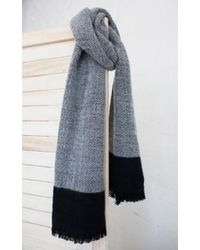 Showpo - To The Tips Scarf In Grey And Black - Lyst