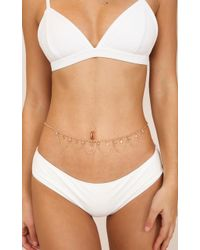 Showpo - Liberation Belly Chain In Gold - Lyst