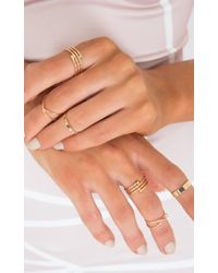 Showpo - Criss Crossed Ring Set In Gold - Lyst