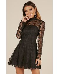 Showpo - Another Girl Dress In Black - Lyst