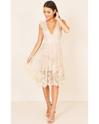Showpo - Caught In Motion Dress In Gold - Lyst
