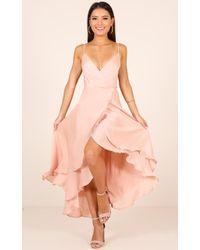 Showpo - Bad Liar Dress In Blush - Lyst