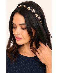 Showpo - Instead Of You Headband In Gold - Lyst