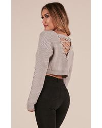 Showpo - Shes A Riot Knit Sweater - Lyst